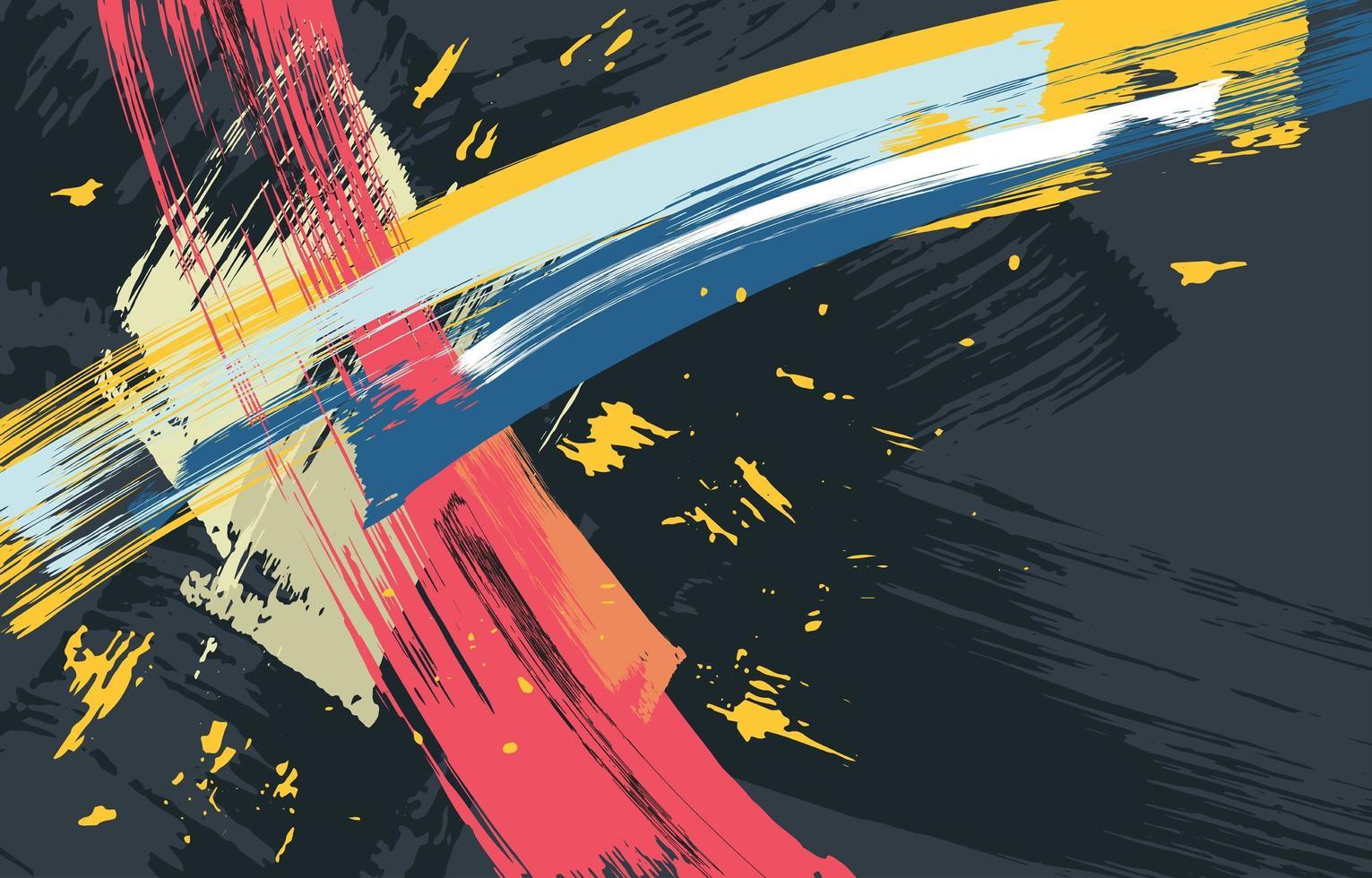 resumo de pintura splash vetor