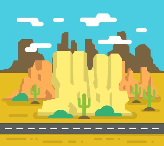 Paisagem do deserto ocidental vetor