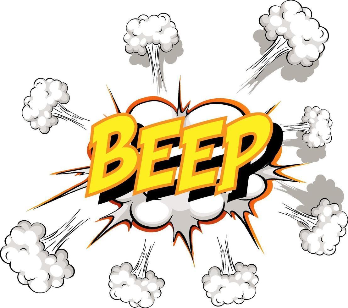 balão de fala em quadrinhos com texto de bipe vetor
