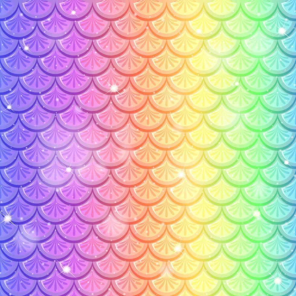 escala de peixe arco-íris sem costura de fundo vetor