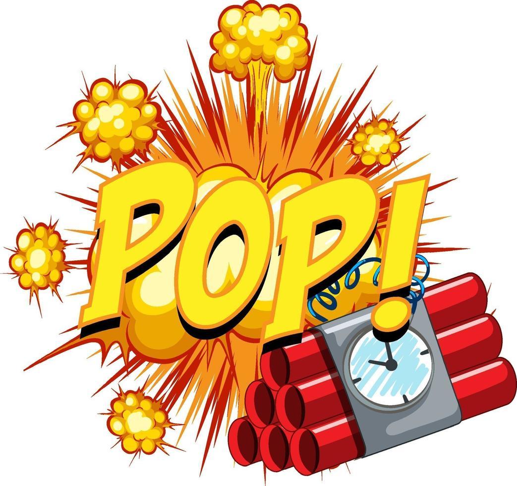 balão de fala em quadrinhos com texto pop vetor