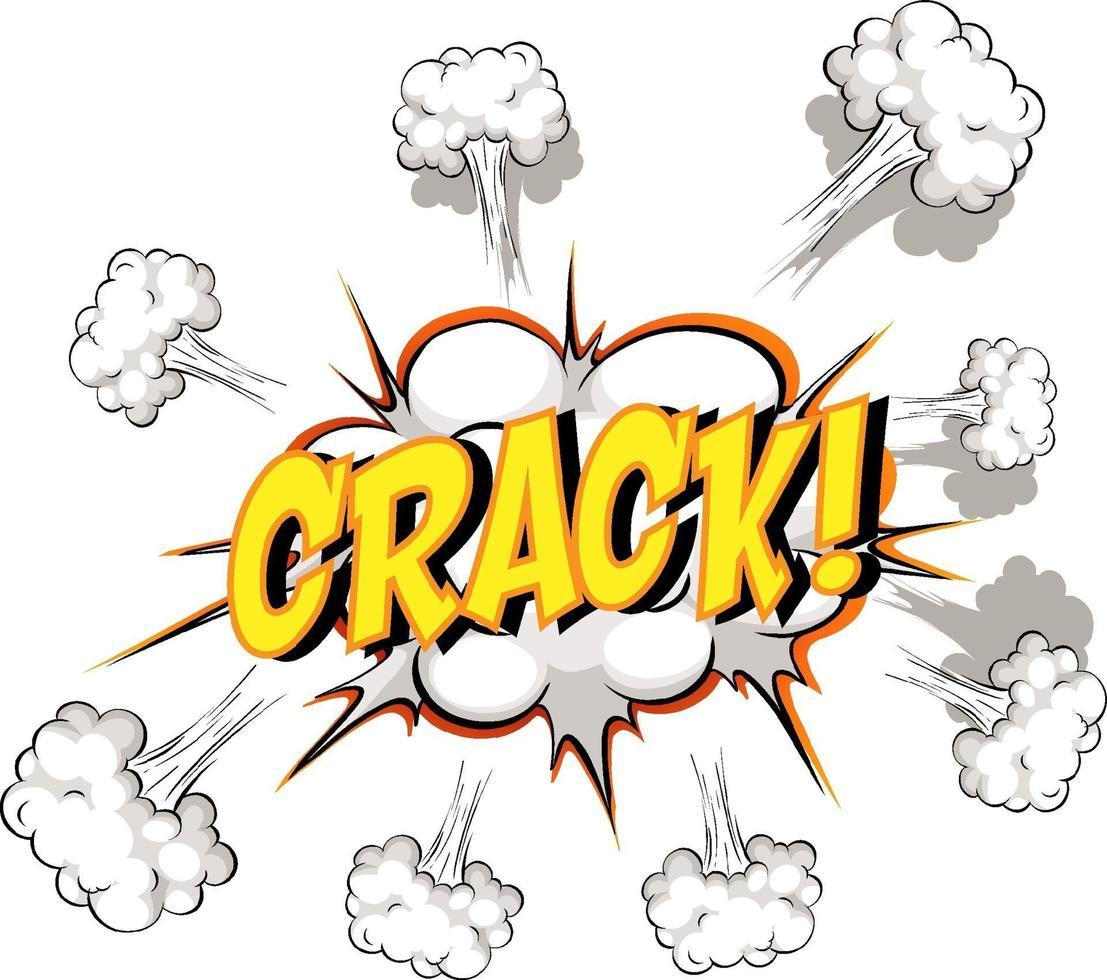 balão de fala em quadrinhos com texto crack vetor