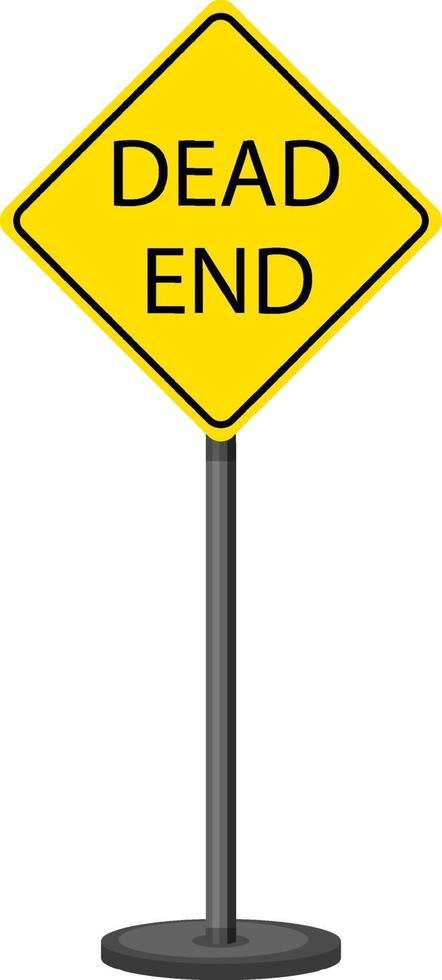 sinal de alerta de tráfego amarelo em fundo branco vetor