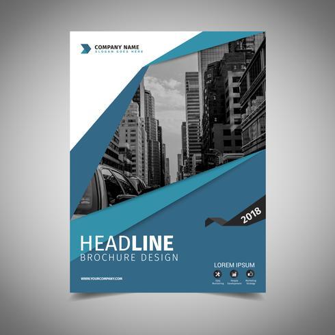 Brochura de negócios de capa vetor