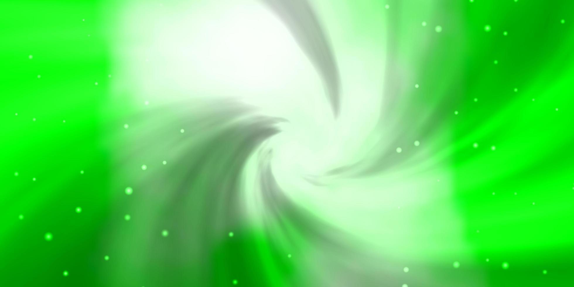 layout de vetor verde claro com estrelas brilhantes.