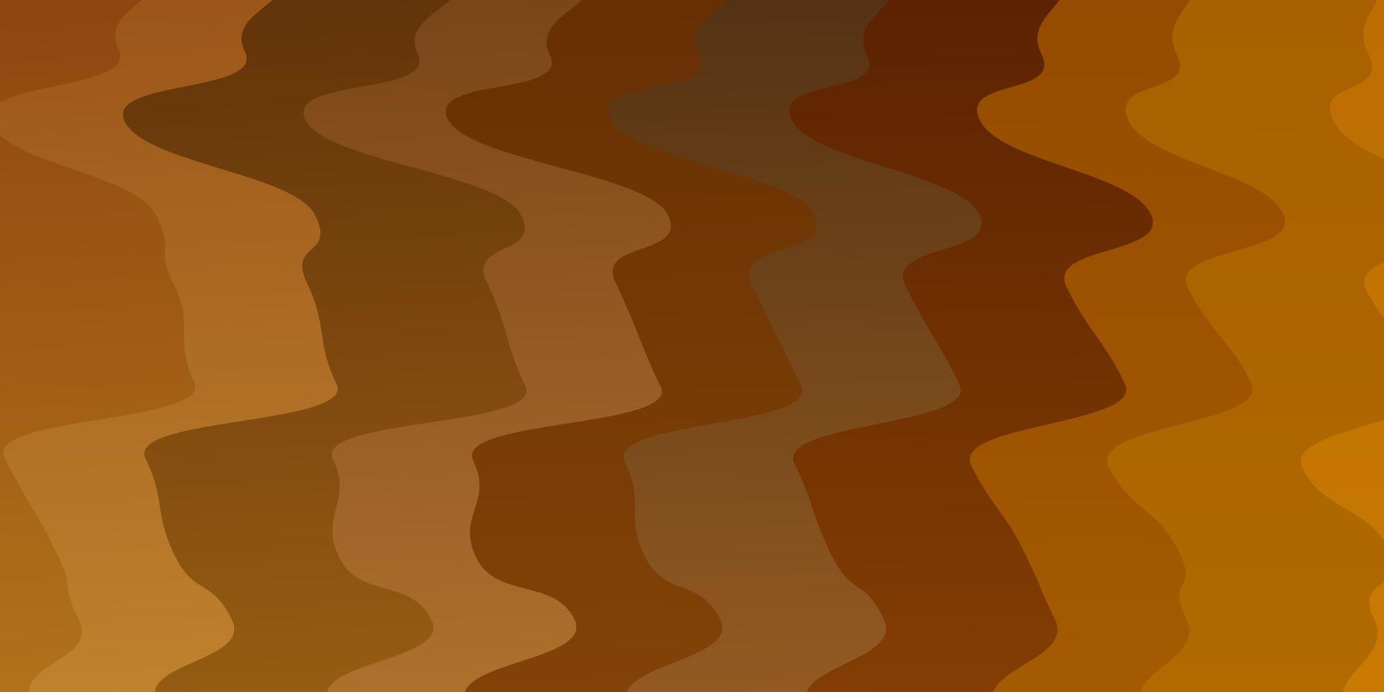 modelo de vetor laranja claro com curvas.