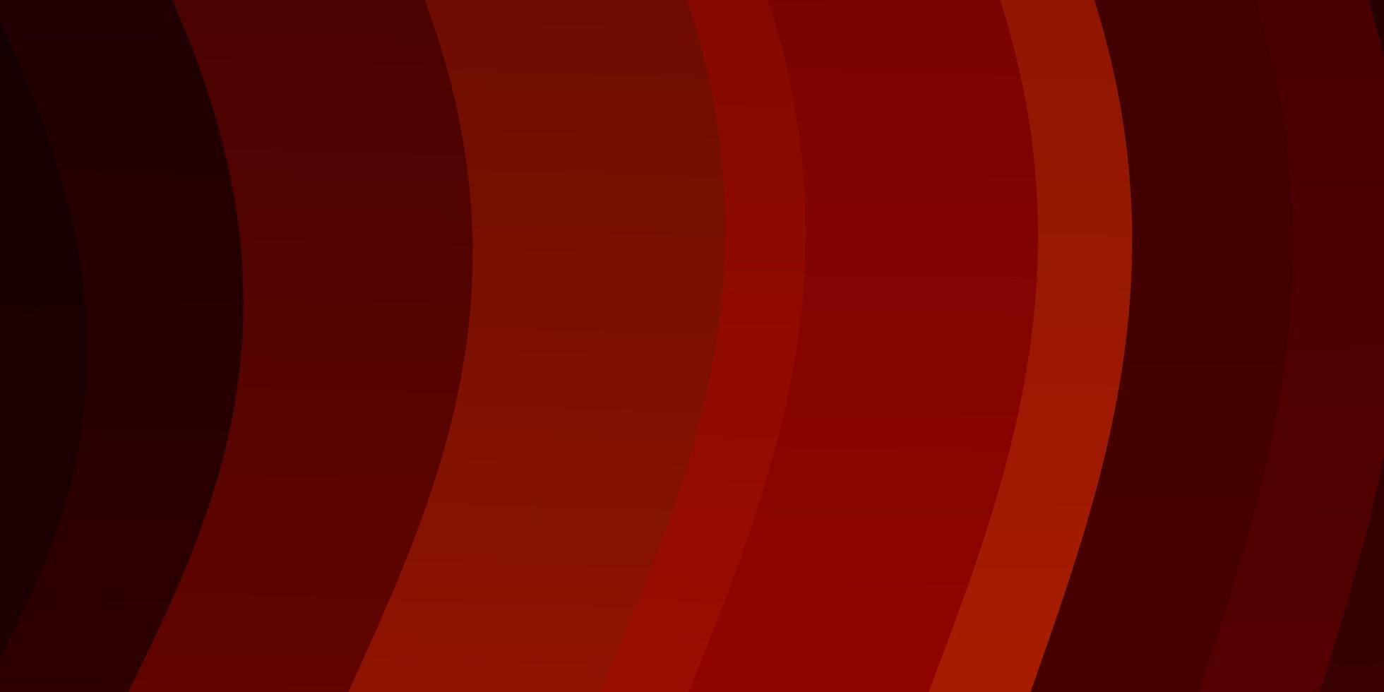 pano de fundo vector laranja claro com curvas.