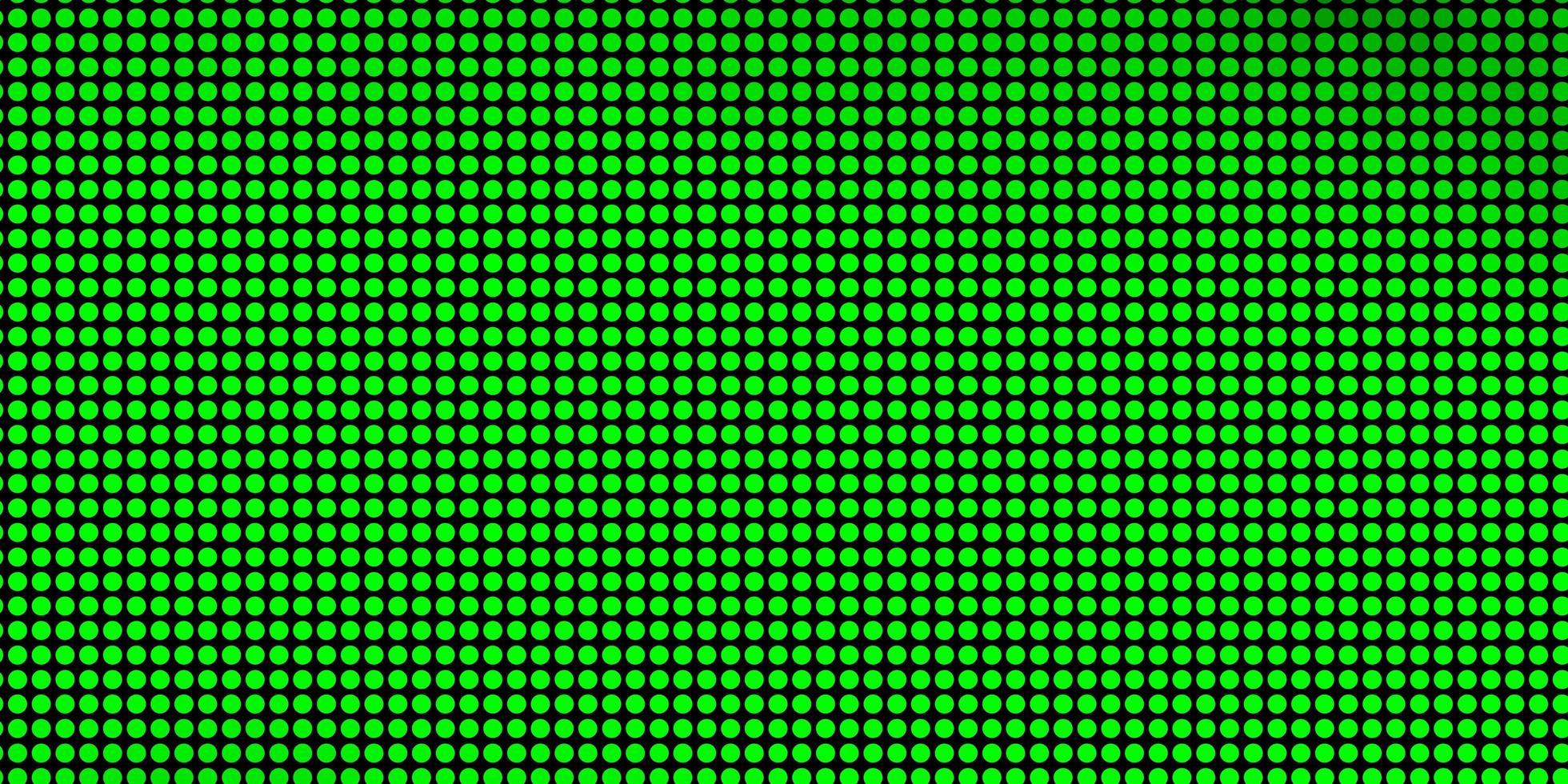 padrão de vetor verde claro com círculos.