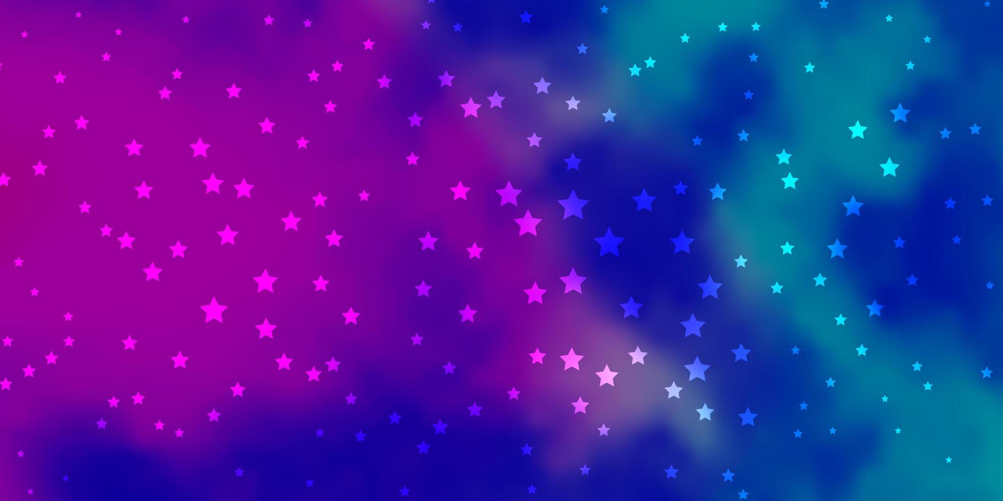 padrão de vetor rosa escuro, azul com estrelas abstratas.