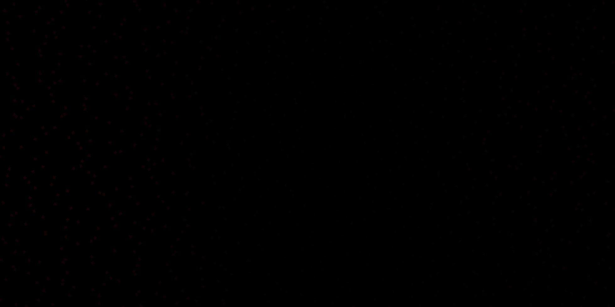 fundo vector vermelho escuro com estrelas pequenas e grandes.