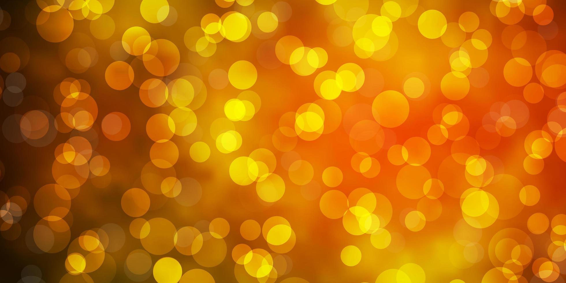 textura de vetor verde e amarelo escuro com discos.