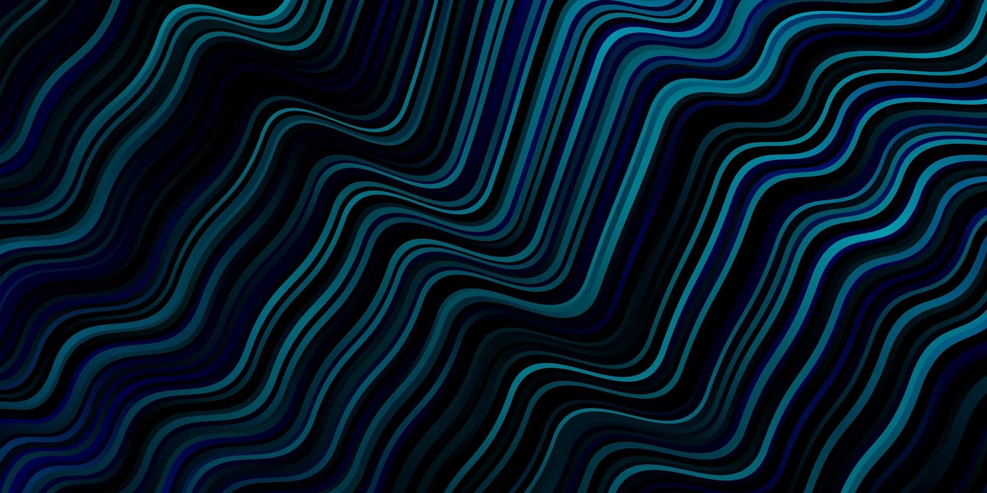 pano de fundo vector azul escuro com linhas dobradas.