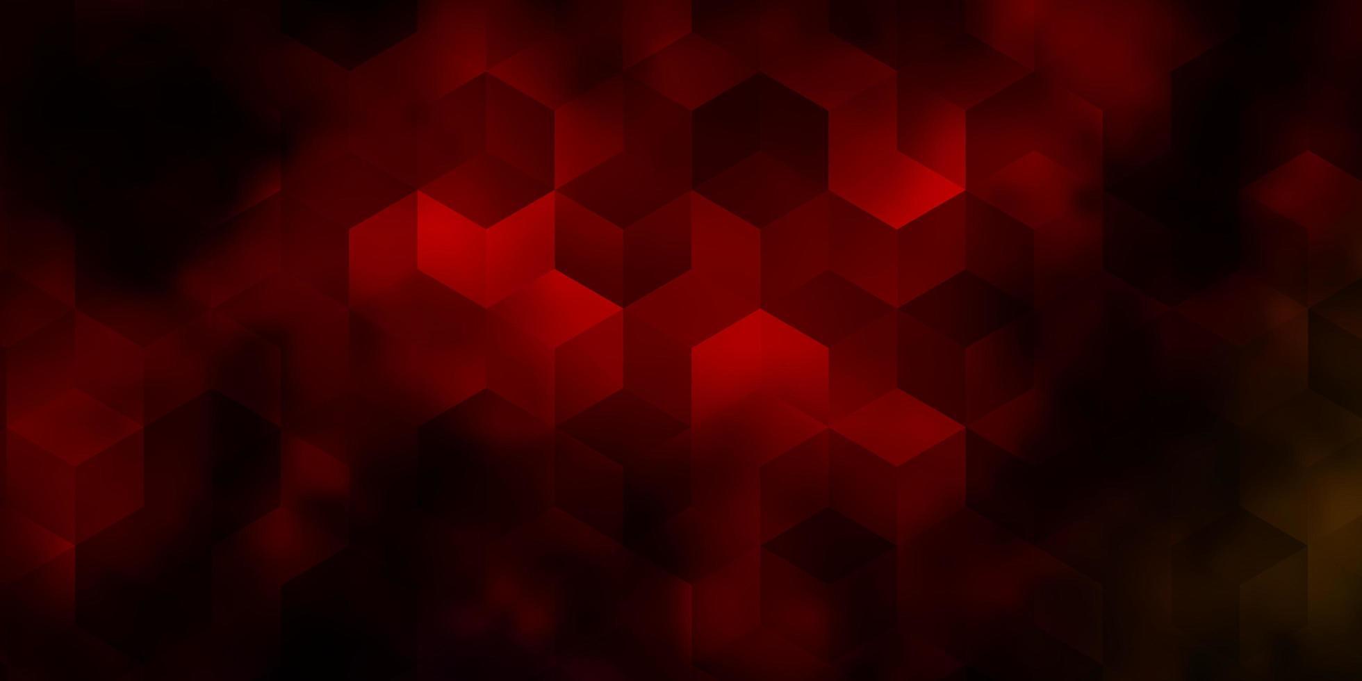 modelo de vetor multicolor escuro em estilo hexagonal.