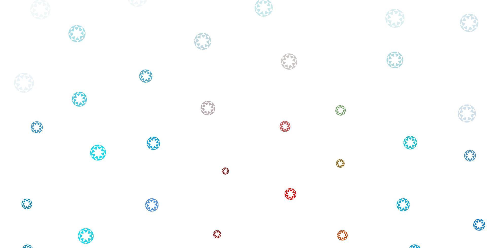 textura vector azul e vermelho claro com discos.