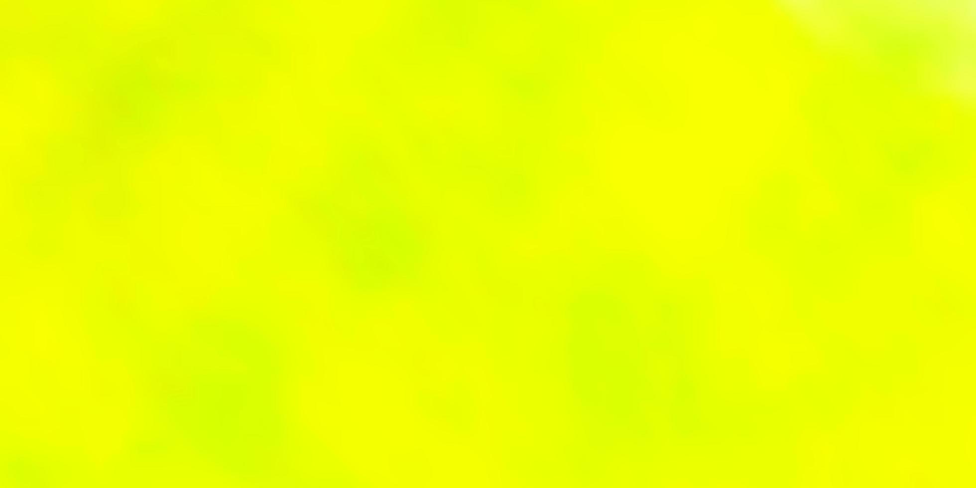 padrão de vetor verde e amarelo claro com nuvens.