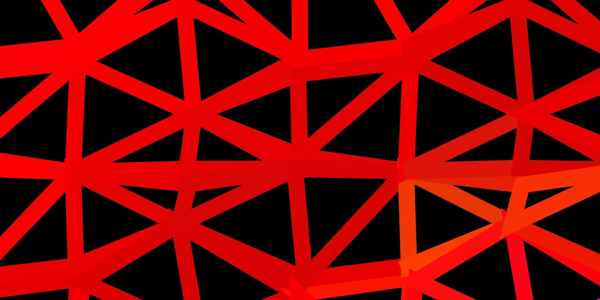 papel de parede polígono gradiente de vetor azul escuro e vermelho.