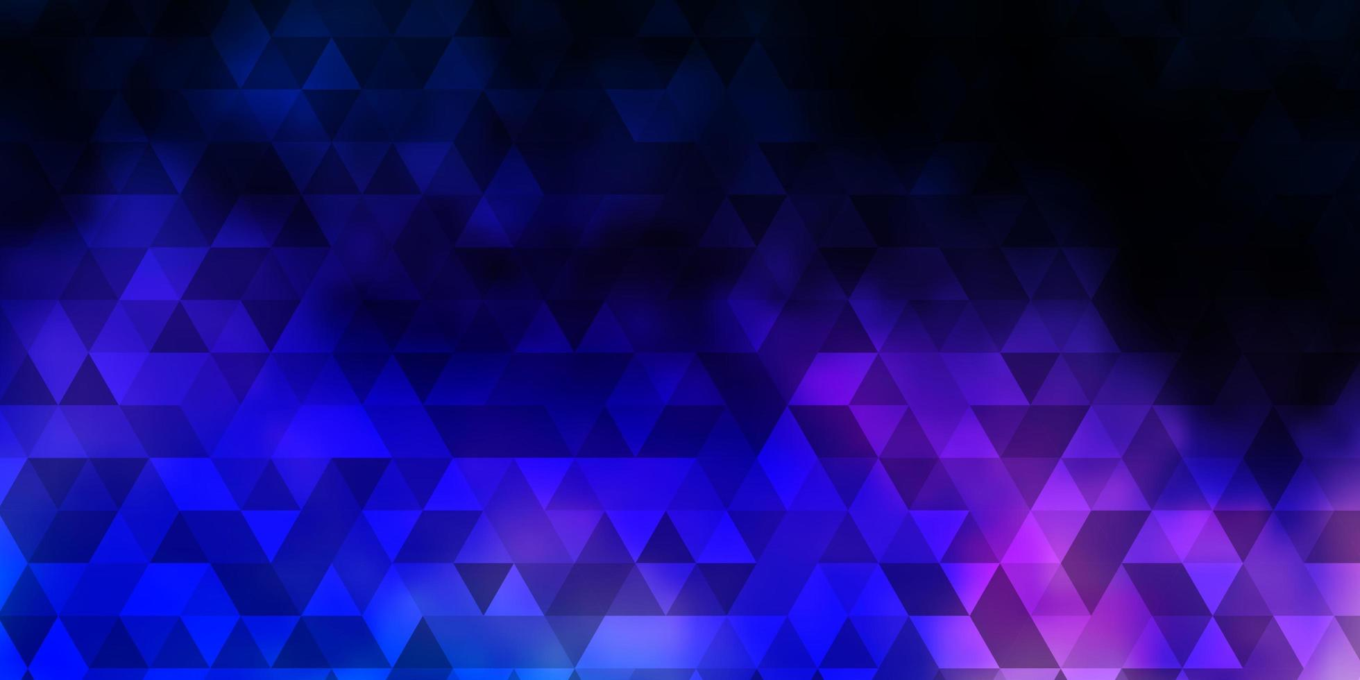 pano de fundo vector rosa escuro, azul com linhas, triângulos.