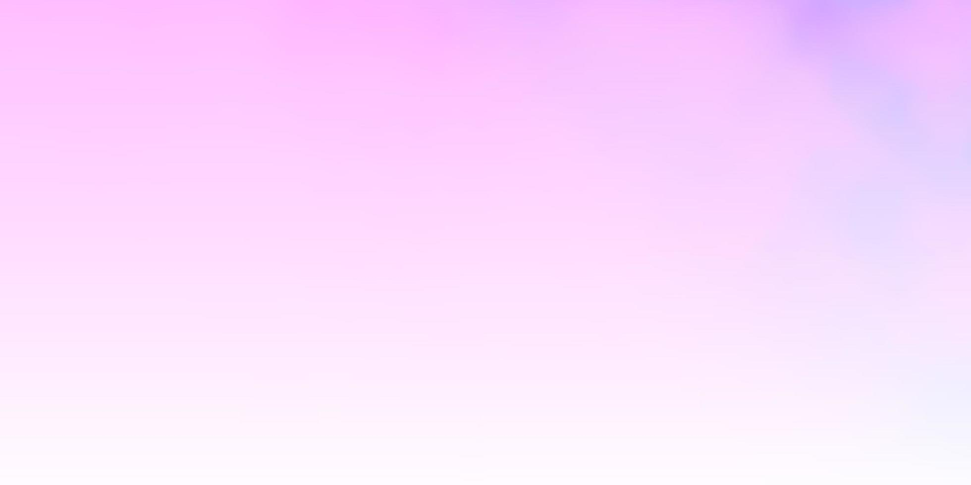 layout de vetor roxo claro, rosa com cloudscape.