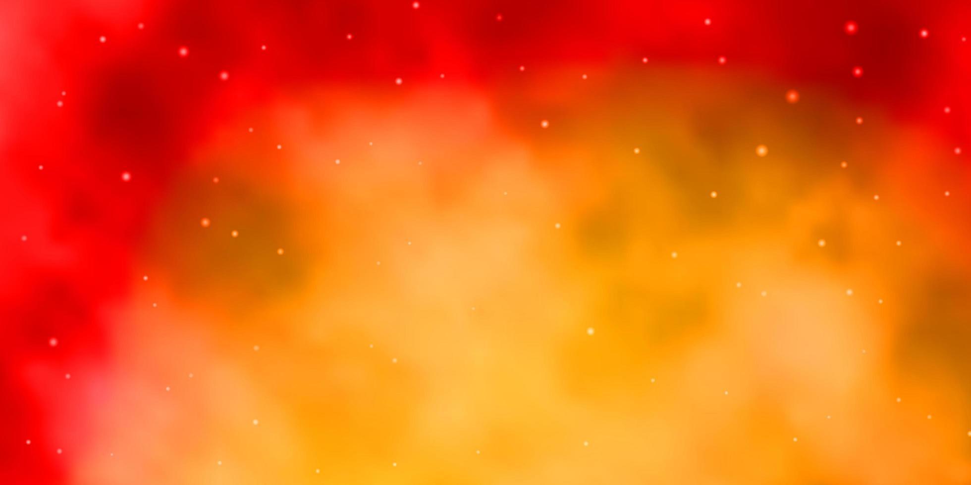 layout de vetor laranja claro com estrelas brilhantes.