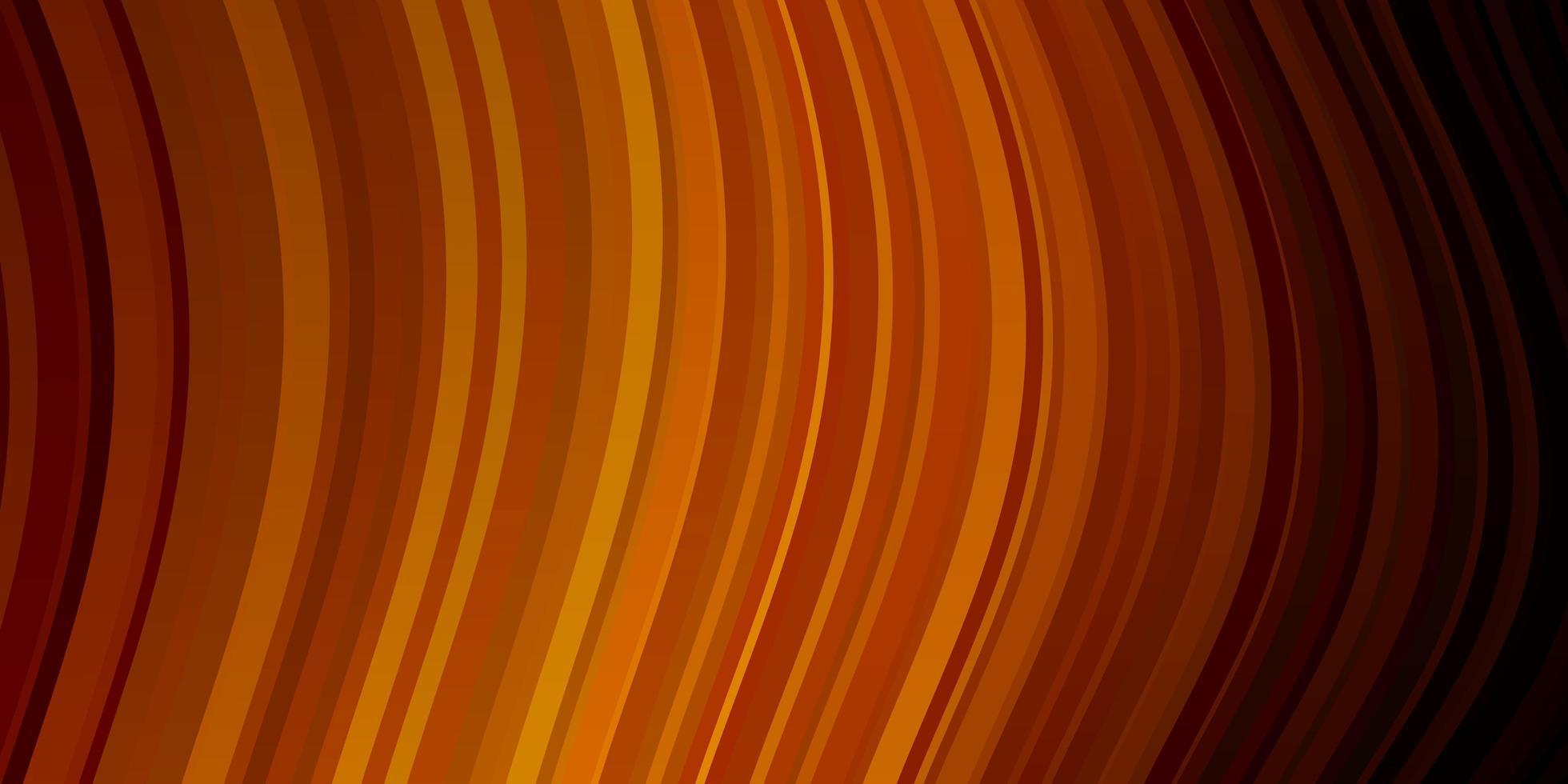 modelo de vetor laranja escuro com linhas.
