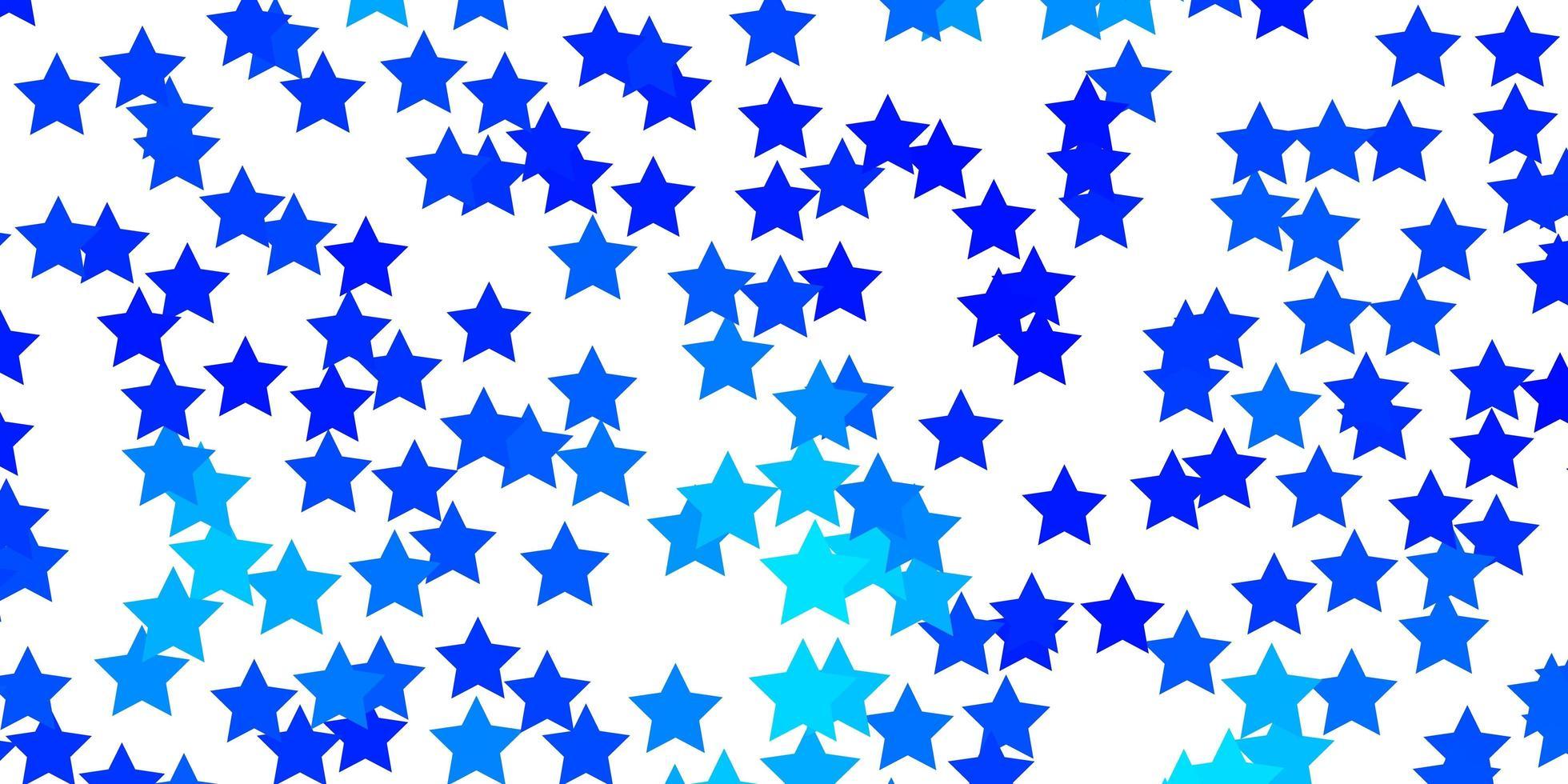 fundo vector azul claro com estrelas pequenas e grandes.