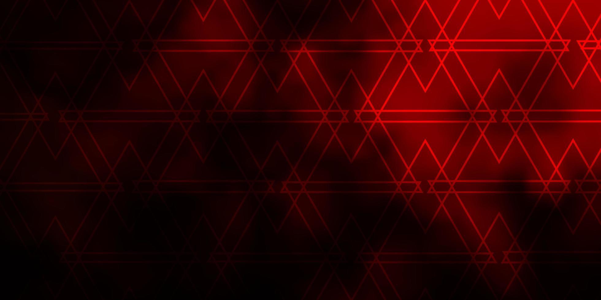 fundo vector vermelho escuro com estilo poligonal.