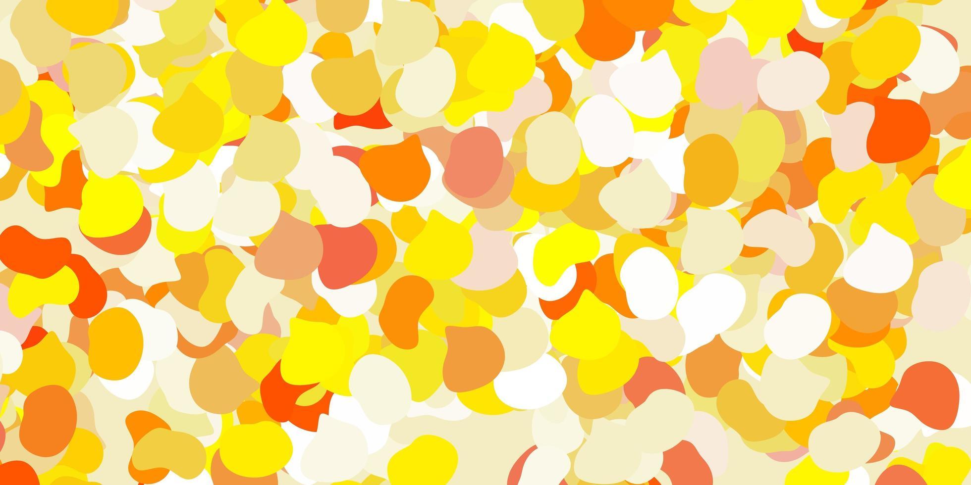 modelo de vetor amarelo claro com formas abstratas.