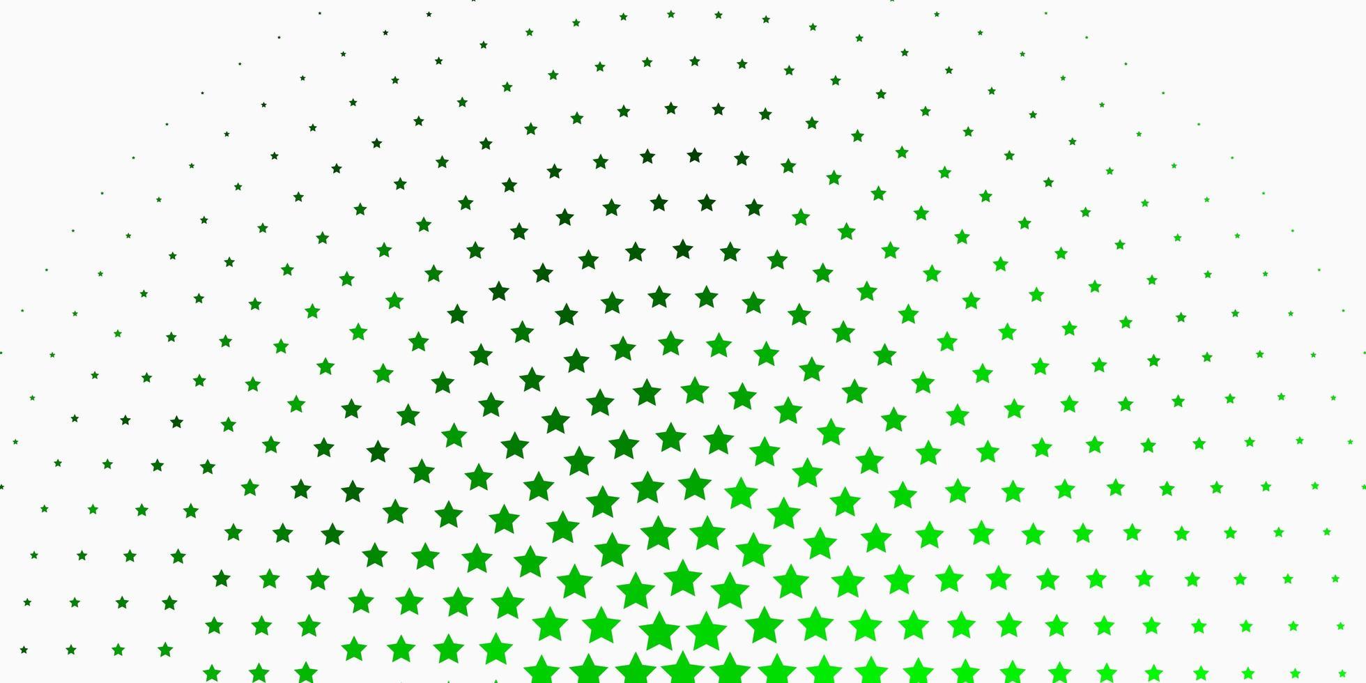 modelo de vetor verde claro com estrelas de néon.