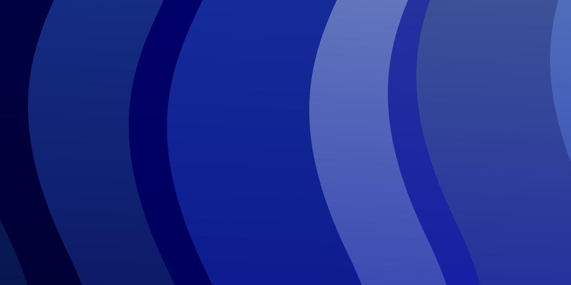 padrão de vetor azul escuro com curvas.