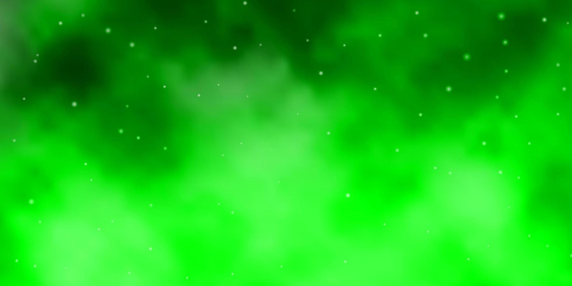 textura vector verde claro com belas estrelas.