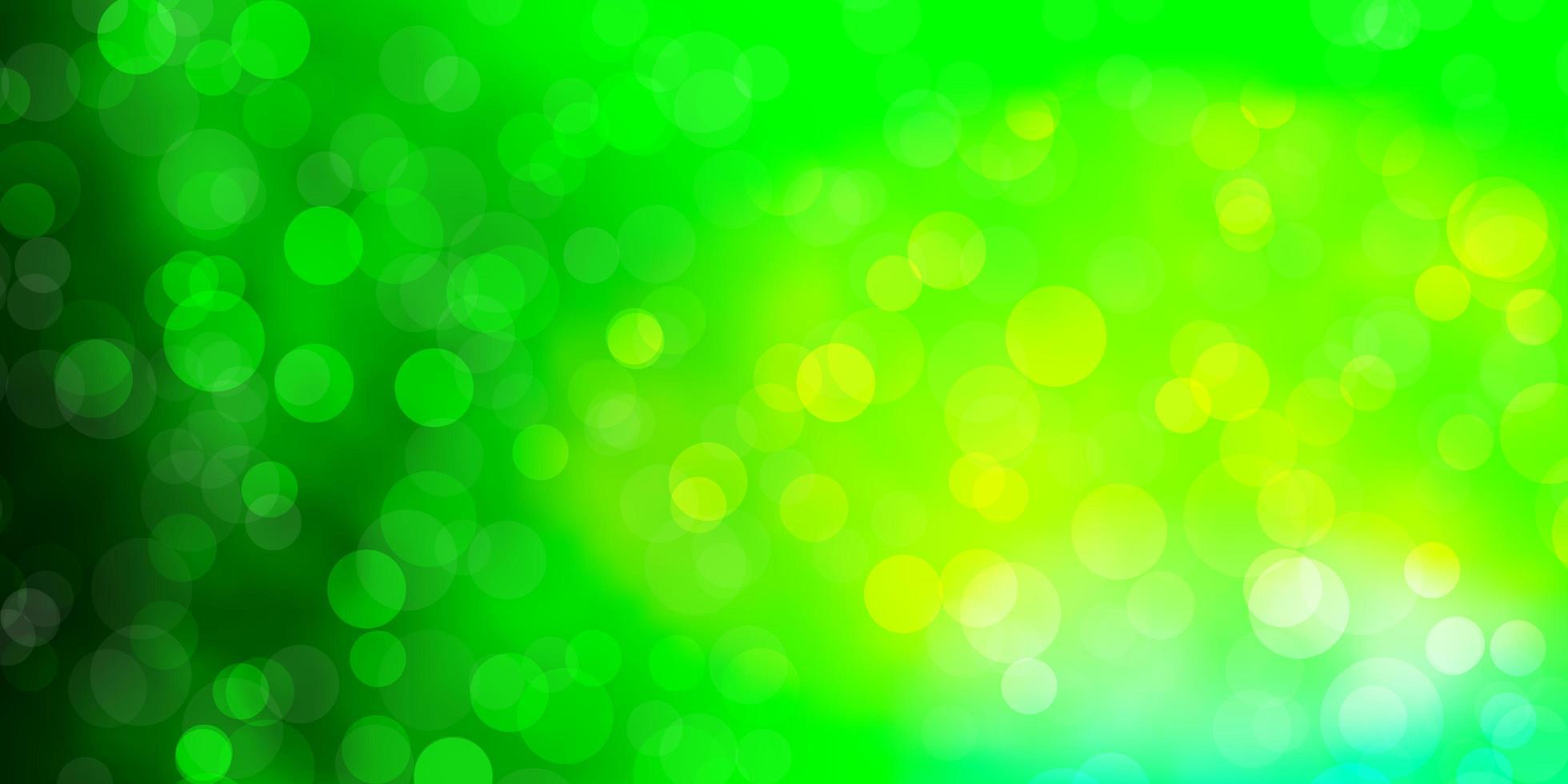 cenário de vetor verde claro com círculos.
