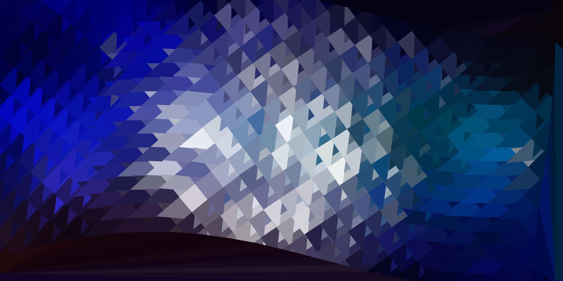 papel de parede de mosaico de triângulo de vetor azul claro e vermelho.