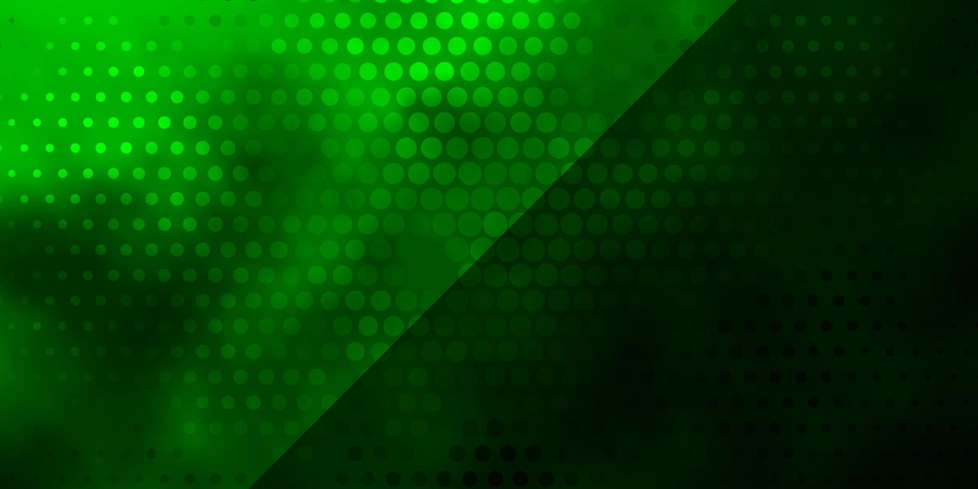 fundo verde claro do vetor com círculos.