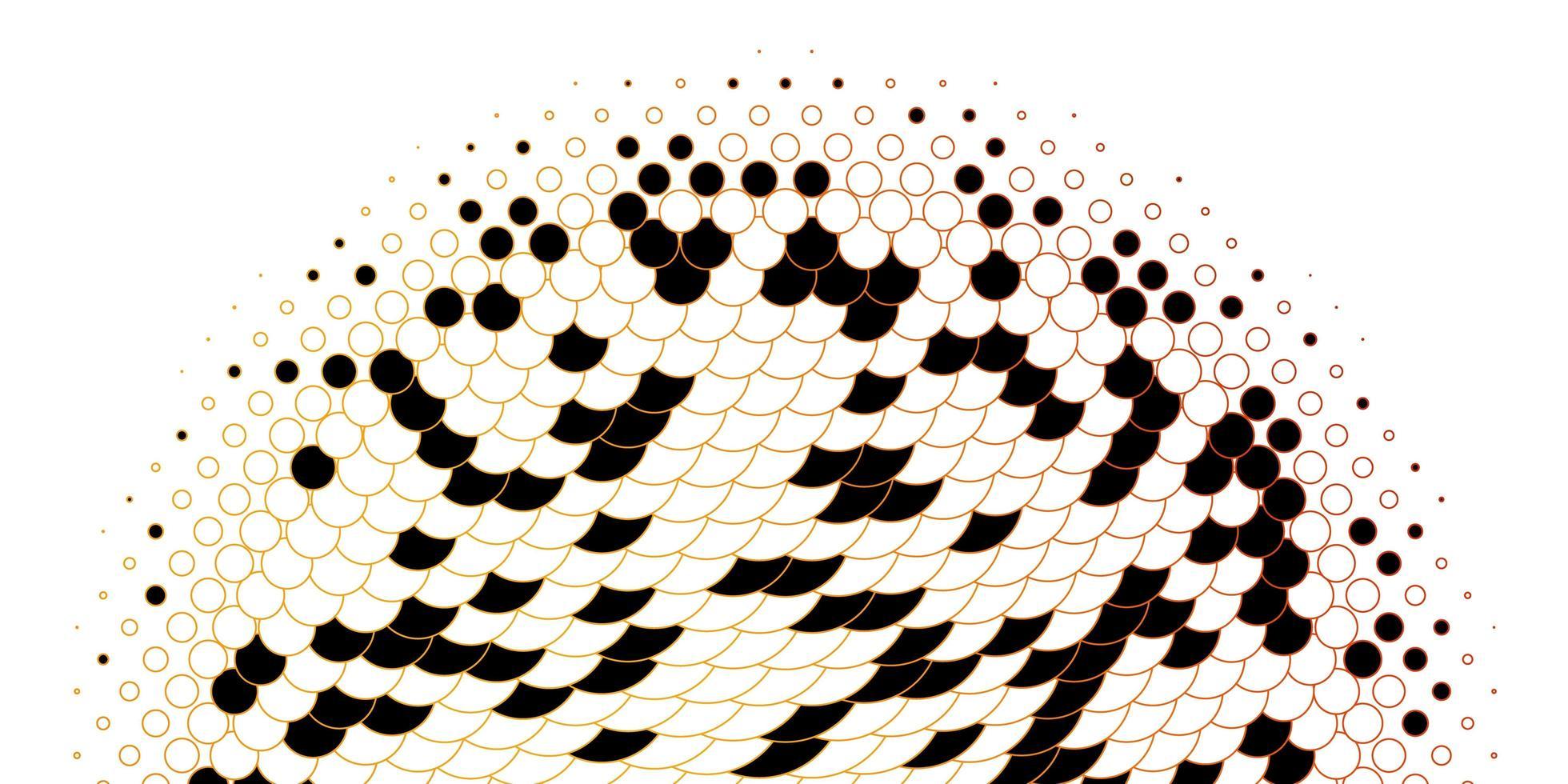textura vector laranja clara com discos.