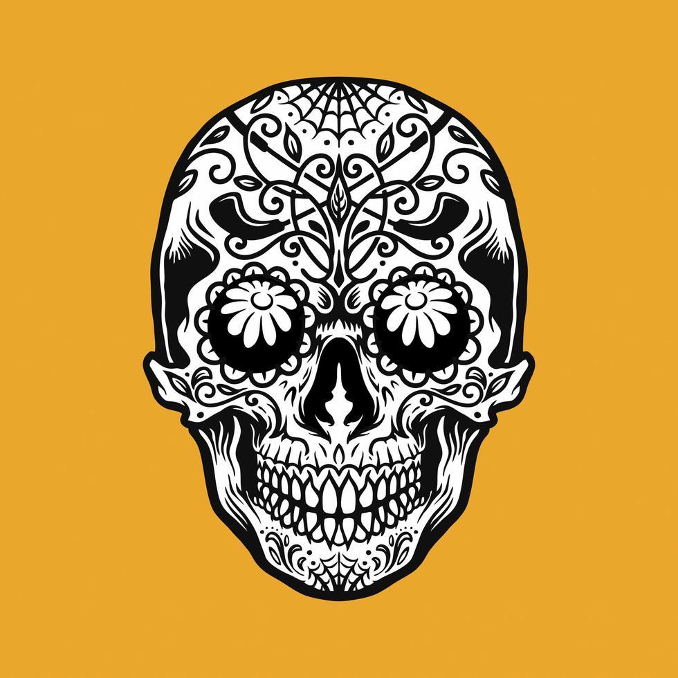 elemento de tatuagem mexicano dia de los muertos vetor