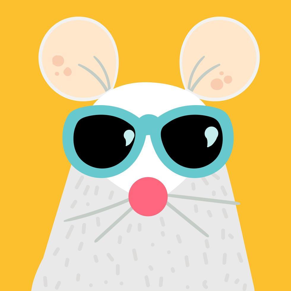 ilustração em vetor personagem de desenho animado de rato engraçado