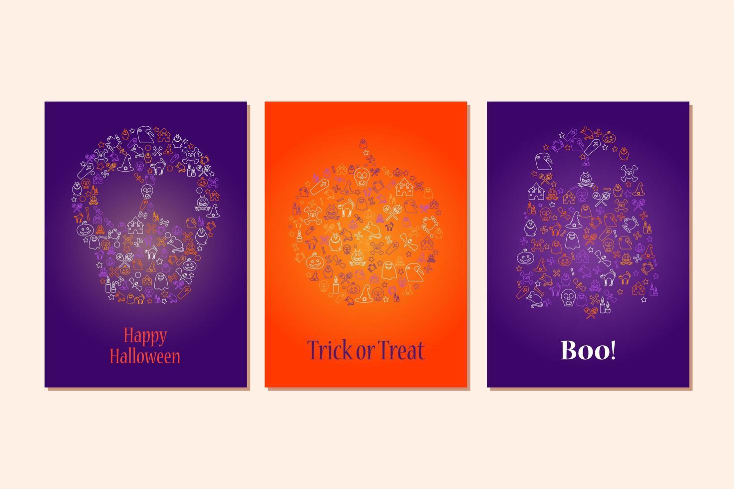 feliz dia das bruxas elemento de design para cartaz, cartão vetor