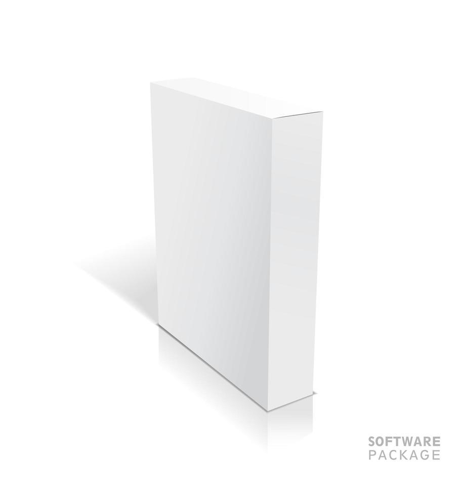 vetor branco realista abriu a ilustração da caixa em branco com sombras.