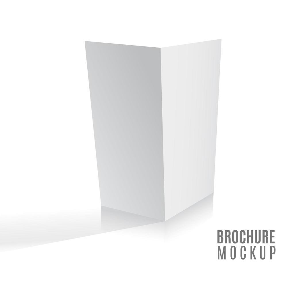 revista, folheto, cartão postal, folheto, cartão 3d de negócios ou modelo de maquete de folheto isolado no branco. vetor