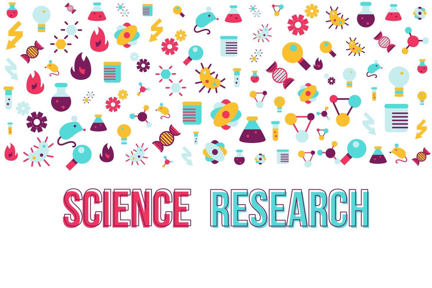 modelo de vetor de faixa plana de pesquisa de biologia