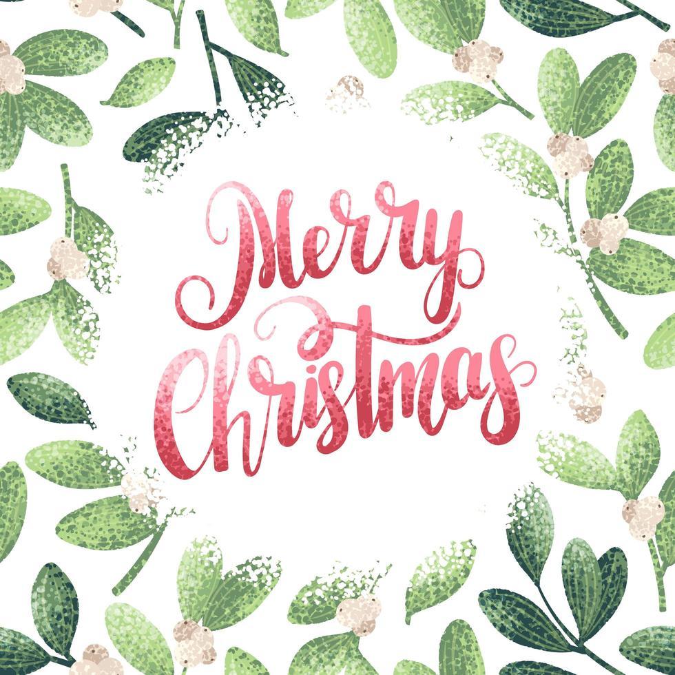 cartão estilo aquarela de feliz natal vetor
