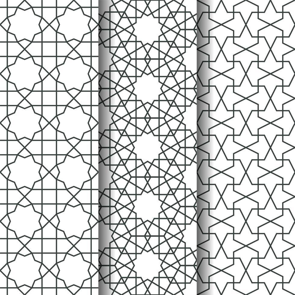 padrão de geometria islâmica vetor