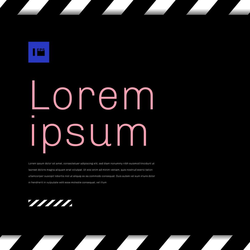 abstrato listrado fundo diagonal preto e branco com espaço para seu texto. vetor
