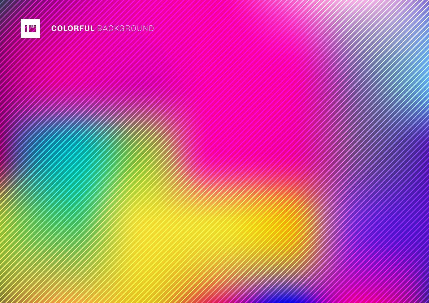 abstrato turva fundo bonito colorido com textura de linhas diagonais. vetor