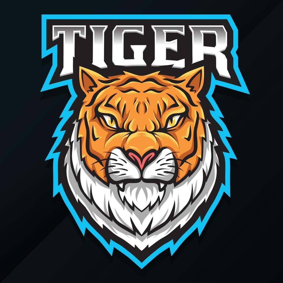 desenho de mascote tigre de animal selvagem vetor