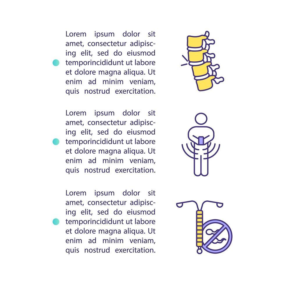 ícone do conceito de danos à saúde do smartphone com texto vetor