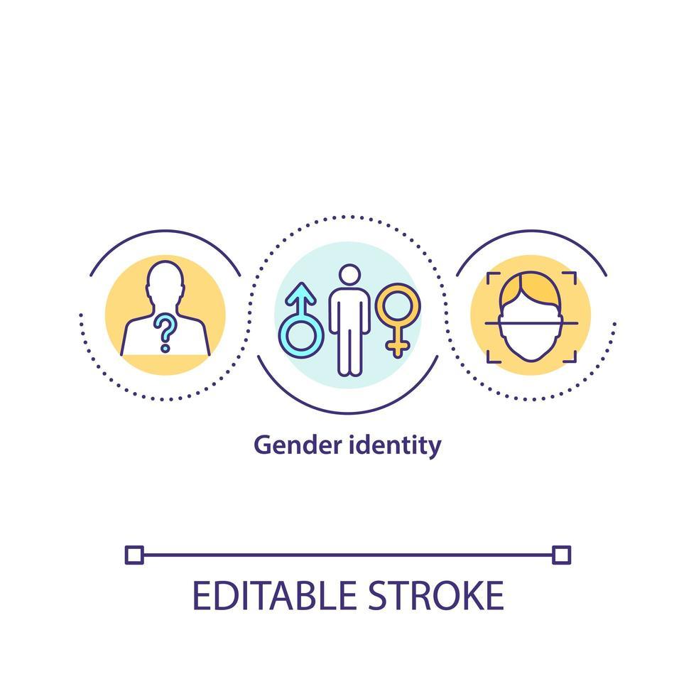ícone do conceito de identidade de gênero vetor