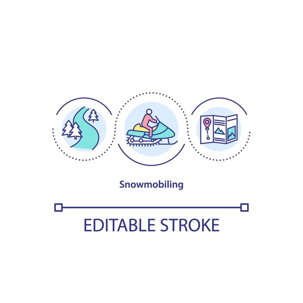 ícone do conceito de snowmobile vetor