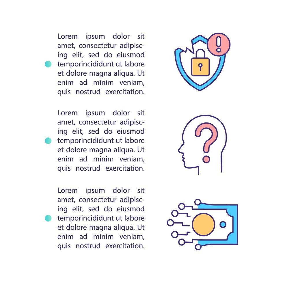 ícone de conceito de privacidade com texto vetor