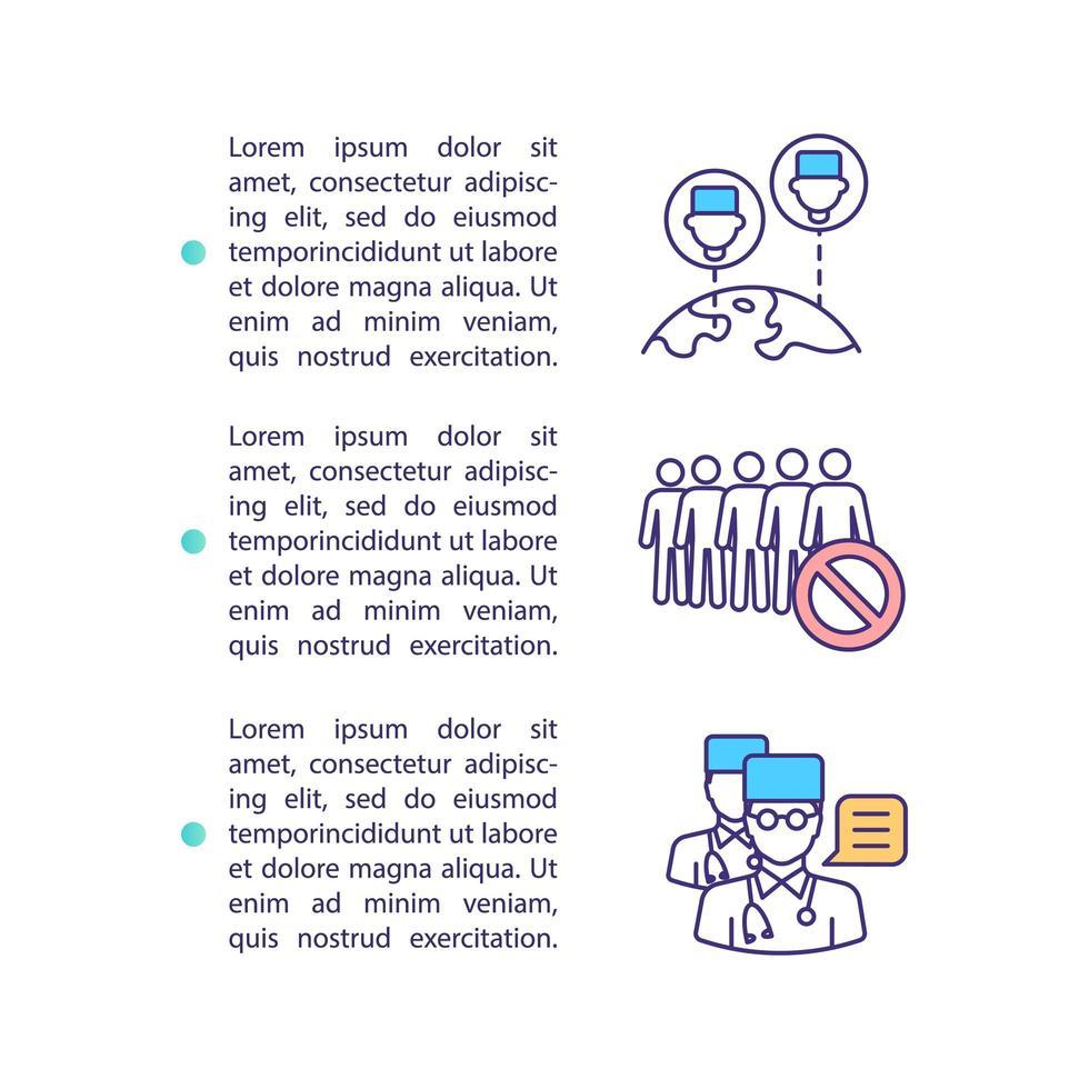 ícone de conceito de rede médico com texto vetor